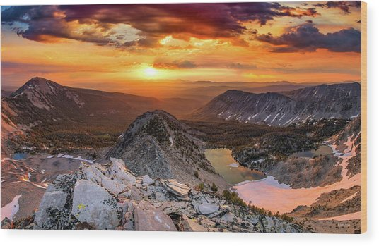 Wood Print featuring the photograph Inspiring Sunrise  by Leland D Howard