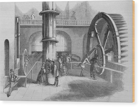 Interior Of The Fairmont Water Works Wood Print by Kean Collection