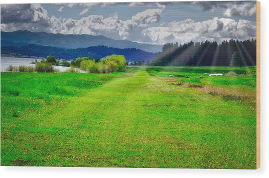 Inviting Airstrip Wood Print