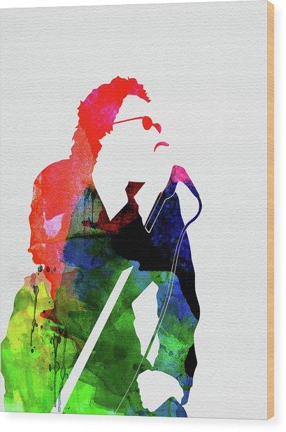 Inxs Watercolor Wood Print