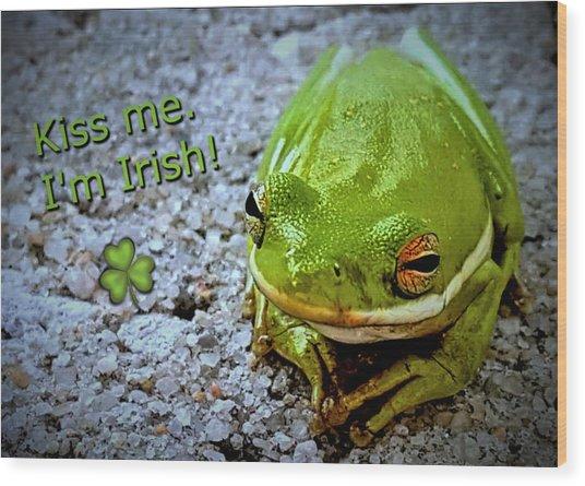 Irish Frog Wood Print