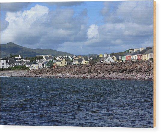 Irish Seaside Village, Co Kerry  Wood Print