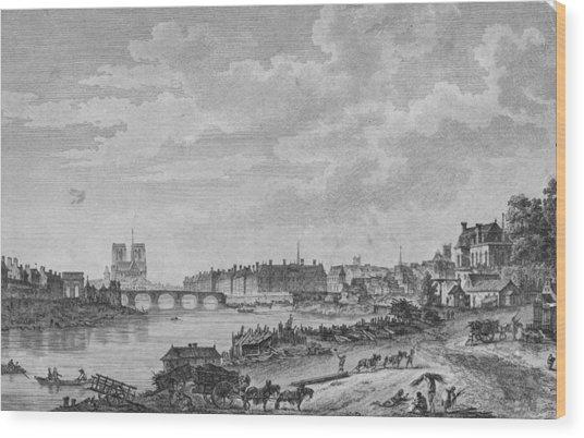 Islands Of Paris Wood Print by Hulton Archive