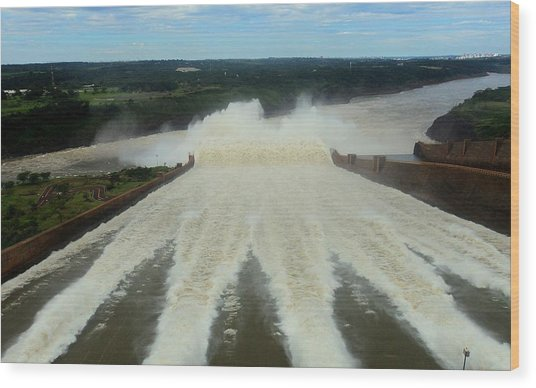 Itaipu Wood Print by Fbigsilva