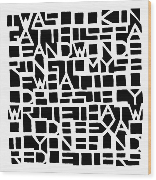 Iwaslookin... - Black Wood Print