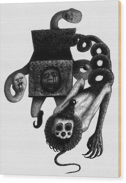 Jack In The Box - Artwork Wood Print