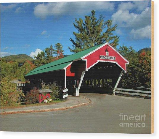 Jackson Covered Bridge Wood Print