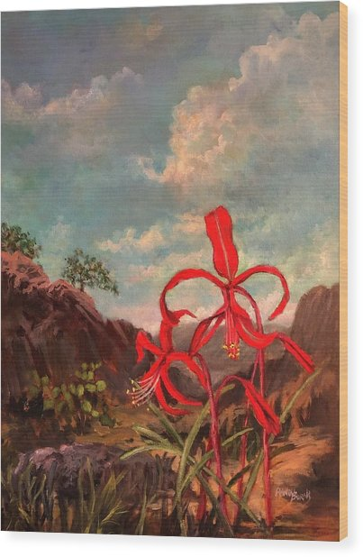 Jacobean Lily Of Mexico Wood Print