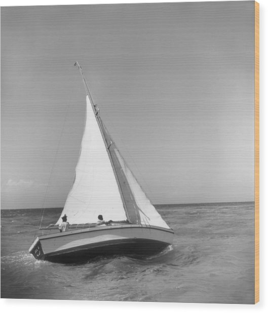 Jamaica Sea Sailing Wood Print by Slim Aarons