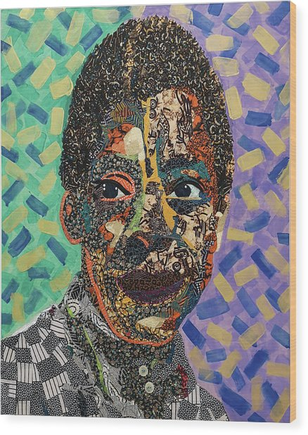 James Baldwin The Fire Next Time Wood Print