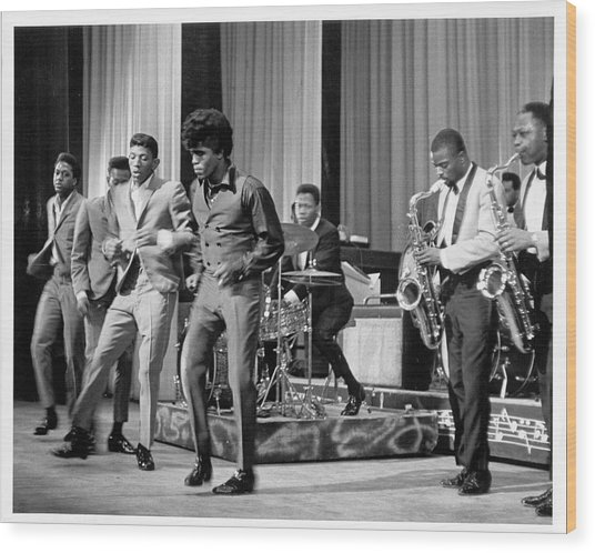 James Brown And Famous Flames At The Wood Print by Michael Ochs Archives