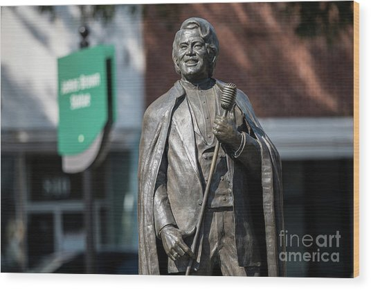 James Brown Statue - Augusta Ga Wood Print