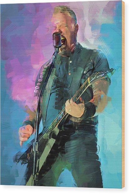 James Hetfield, Metallica Wood Print