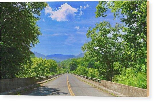 James River Bridge, Blue Ridge Parkway, Va. Wood Print