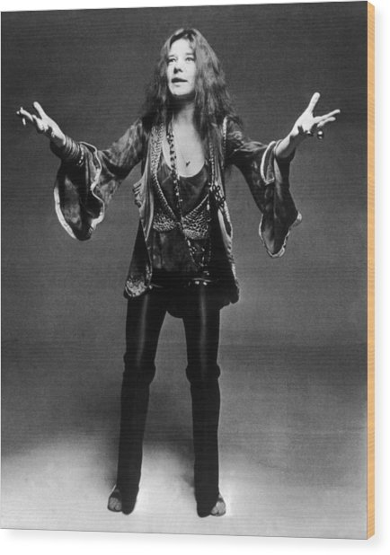 Janis Joplin 1966-1970 Wood Print by Keystone-france