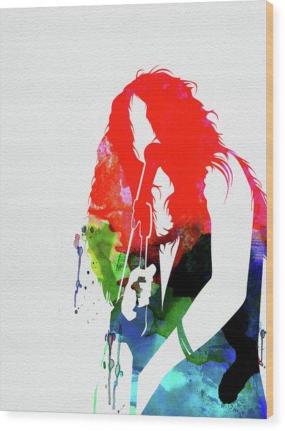 Janis Watercolor Wood Print