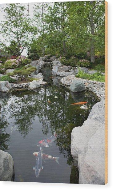 Japanese Friendship Garden Wood Print by Meltonmedia