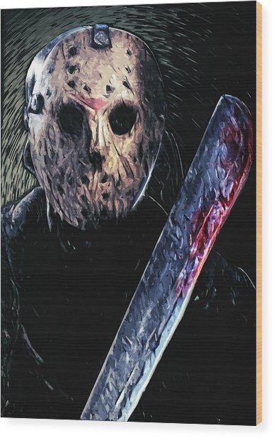 Jason Voorhees Wood Print