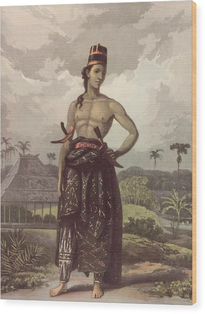 Javan Royalty Wood Print by Hulton Archive