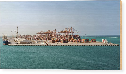 Wood Print featuring the photograph Jeddah Seaport by William Dickman