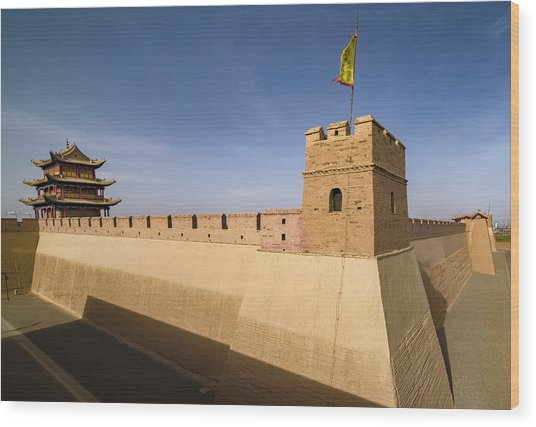 Jiayuguan Pass Western Great Wall Jiayuguan Gansu China Wood Print