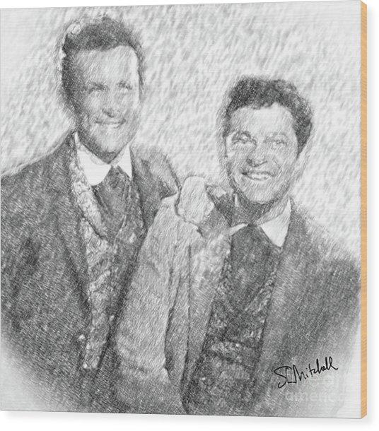 Jim And Artimus Wood Print