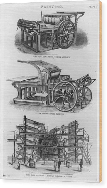 Jobbing Machine Wood Print by Hulton Archive