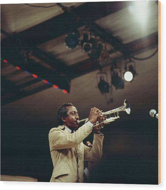 Joe Newman Performs On Stage At Newport Wood Print by David Redfern