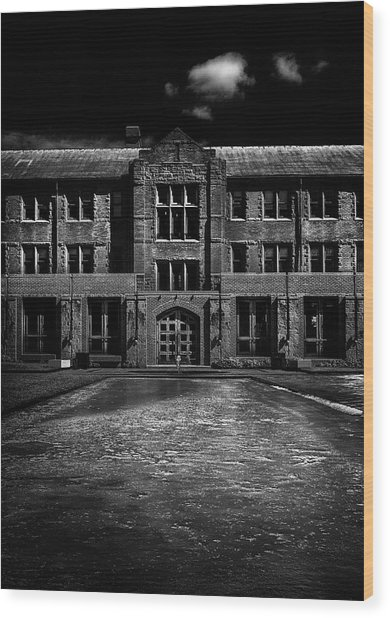 John W Graham Library Wood Print