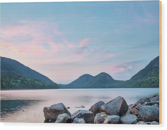 Jordan Pond Wood Print by Zev Steinhardt