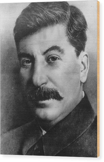 Josef Stalin Wood Print by Hulton Archive