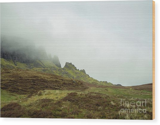 Journey To The Quiraing Wood Print