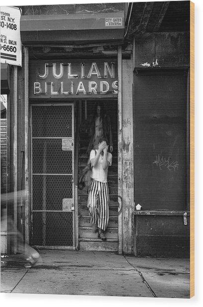 Julian Billiards Wood Print