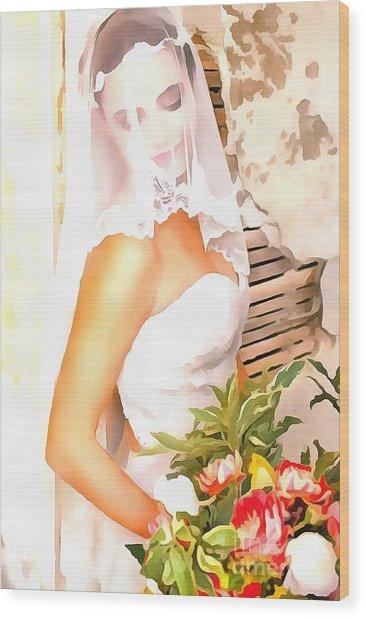 June Bride Wood Print