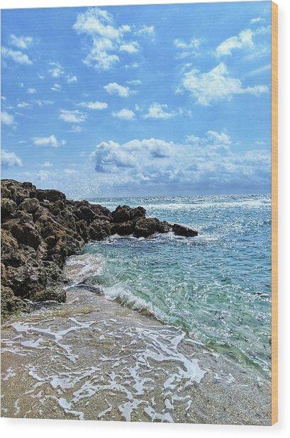 Just Beachy Wood Print
