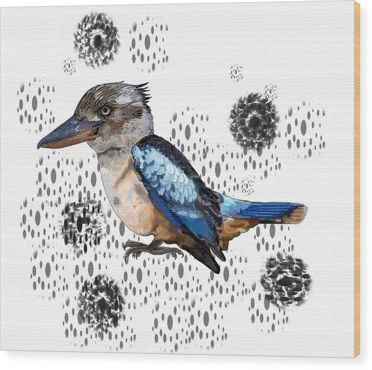 K Is For Kookaburra Wood Print