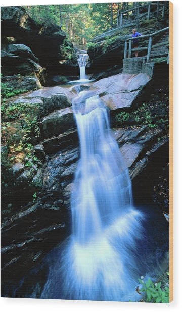 Kancamagus Highway Sabbaday Falls, New Wood Print