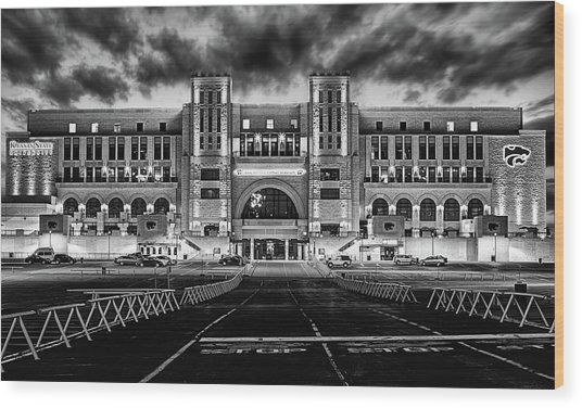 Kansas State Football Wood Print by JC Findley