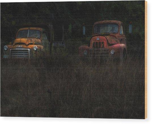 Karly's Trucks Wood Print