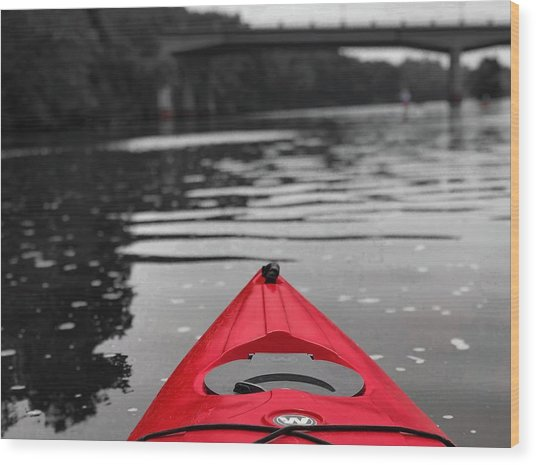 Kayaking The Occoquan Wood Print