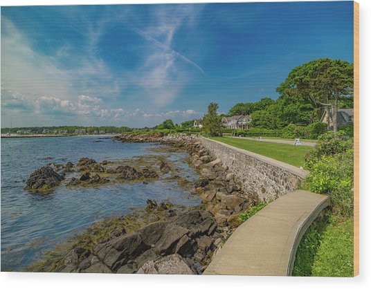 Kennebunkport The Green Lively Life Wood Print