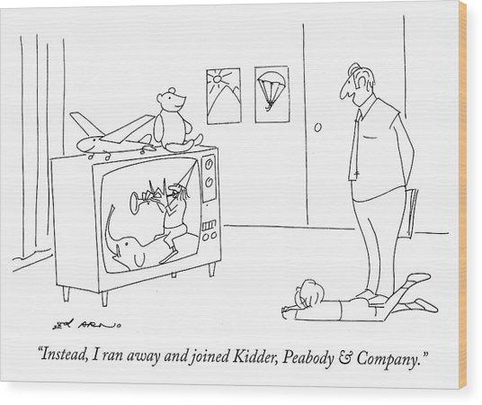 Kidder Peabody And Company Wood Print