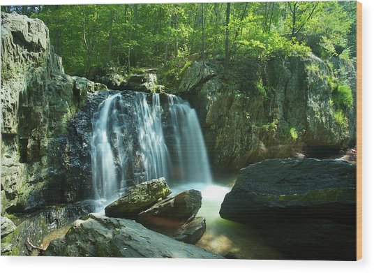 Kilgore Falls In Summer Wood Print