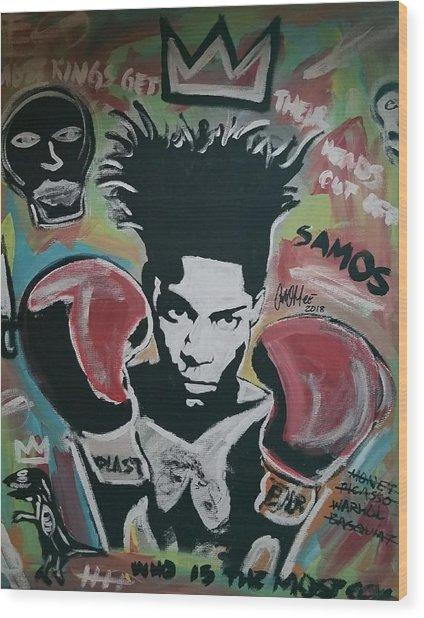 King Basquiat Wood Print
