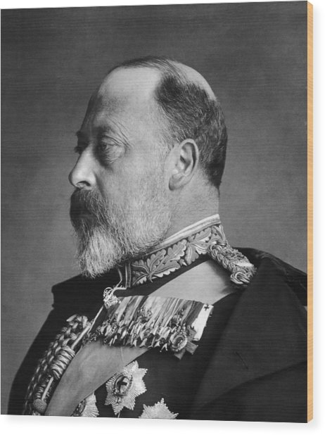 King Edward Vii Wood Print by General Photographic Agency