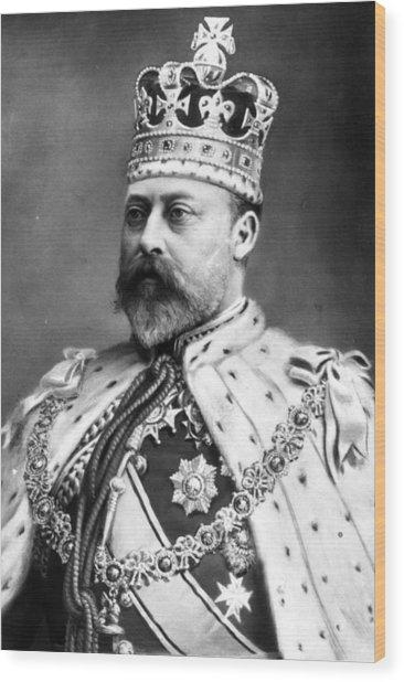 King Edward Vii Wood Print by Hulton Archive