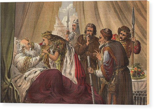 King Lear Wood Print by Hulton Archive