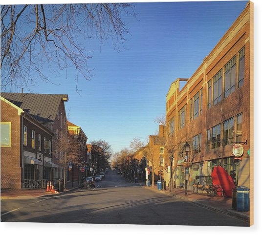 King Street Sunrise Wood Print