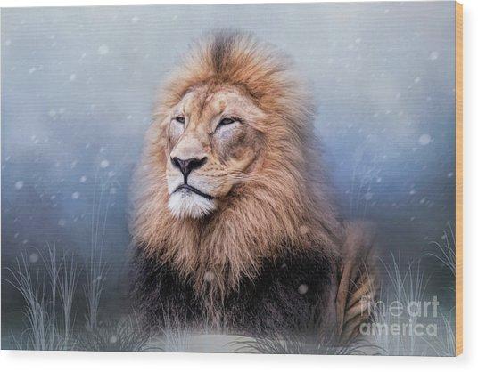 King Winter Wood Print