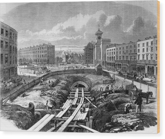 Kings Cross Station Wood Print by Hulton Archive